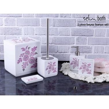 Rekabet Pazarı Selim Luissa Beyaz Mor Banyo Seti Mor